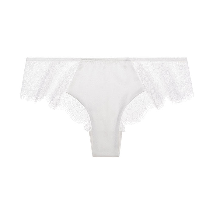 Sandra Signature Silk and Chantilly lace briefs Bridal White - Sandra Silk - Evellier