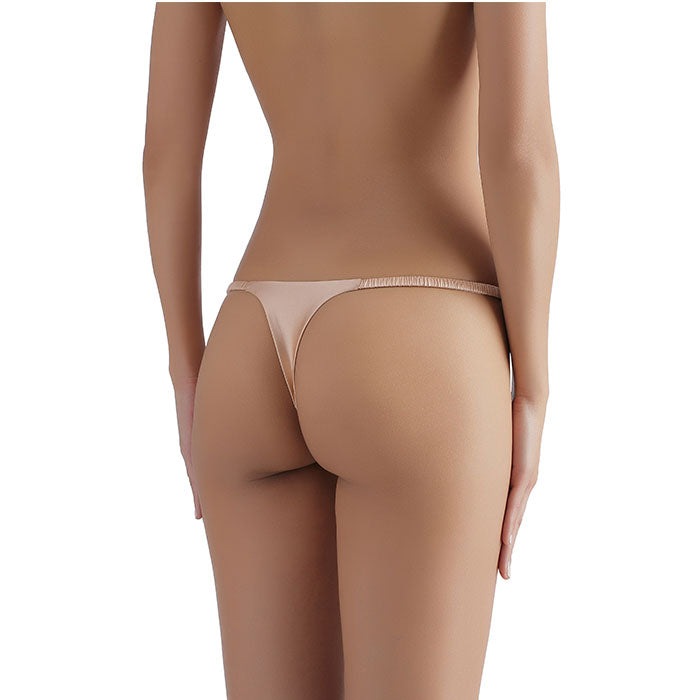 Sandra Signature Silk G-string Peach - Sandra Silk - Evellier