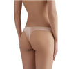 Sandra Signature Silk Thong with French Chantilly Lace Peach - Sandra Silk - Evellier