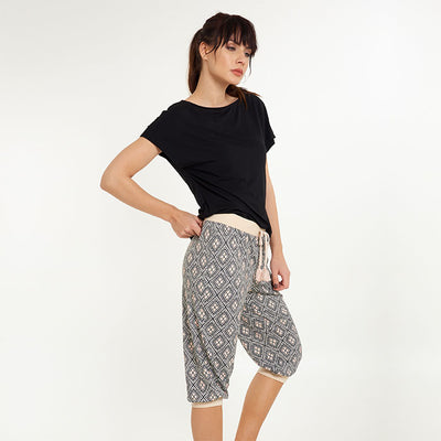 Moon Terry Jogging Capri Pants - Lingadore - Evellier