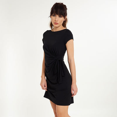Moon Short Sleeve Dress with Bow - Lingadore - Evellier
