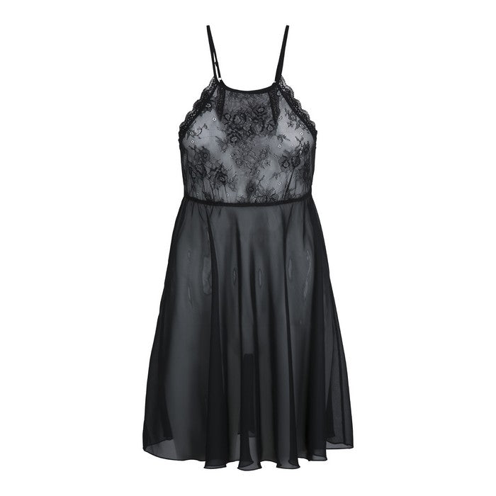VANA Chemise with lace Black - Lingadore - Evellier