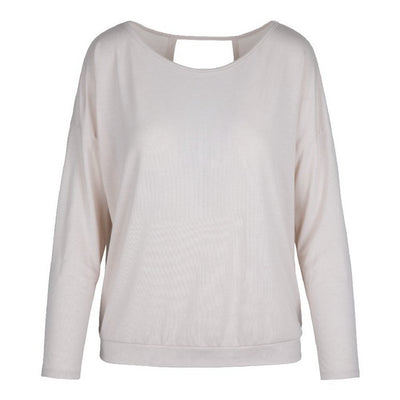 Moon Long Sleeve Crossover Top Rose - Lingadore - Evellier