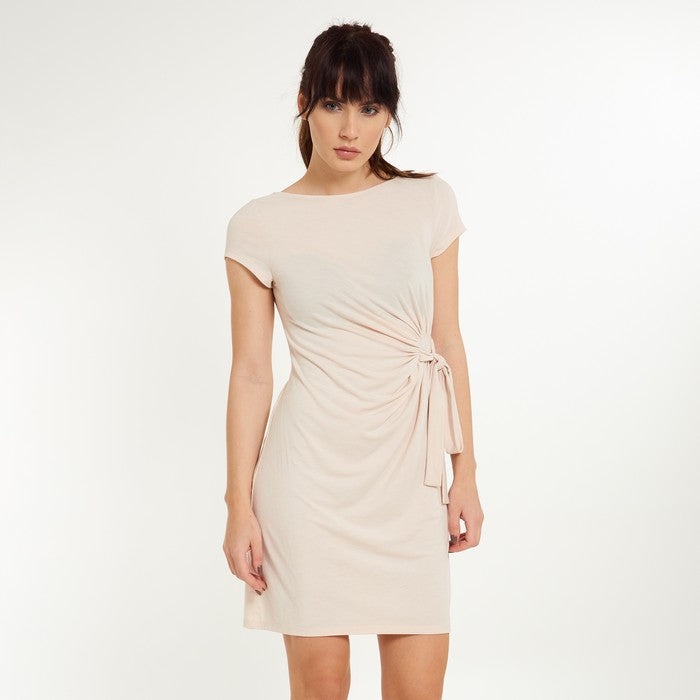 Moon Short Sleeve Dress with Bow Rose - Lingadore - Evellier