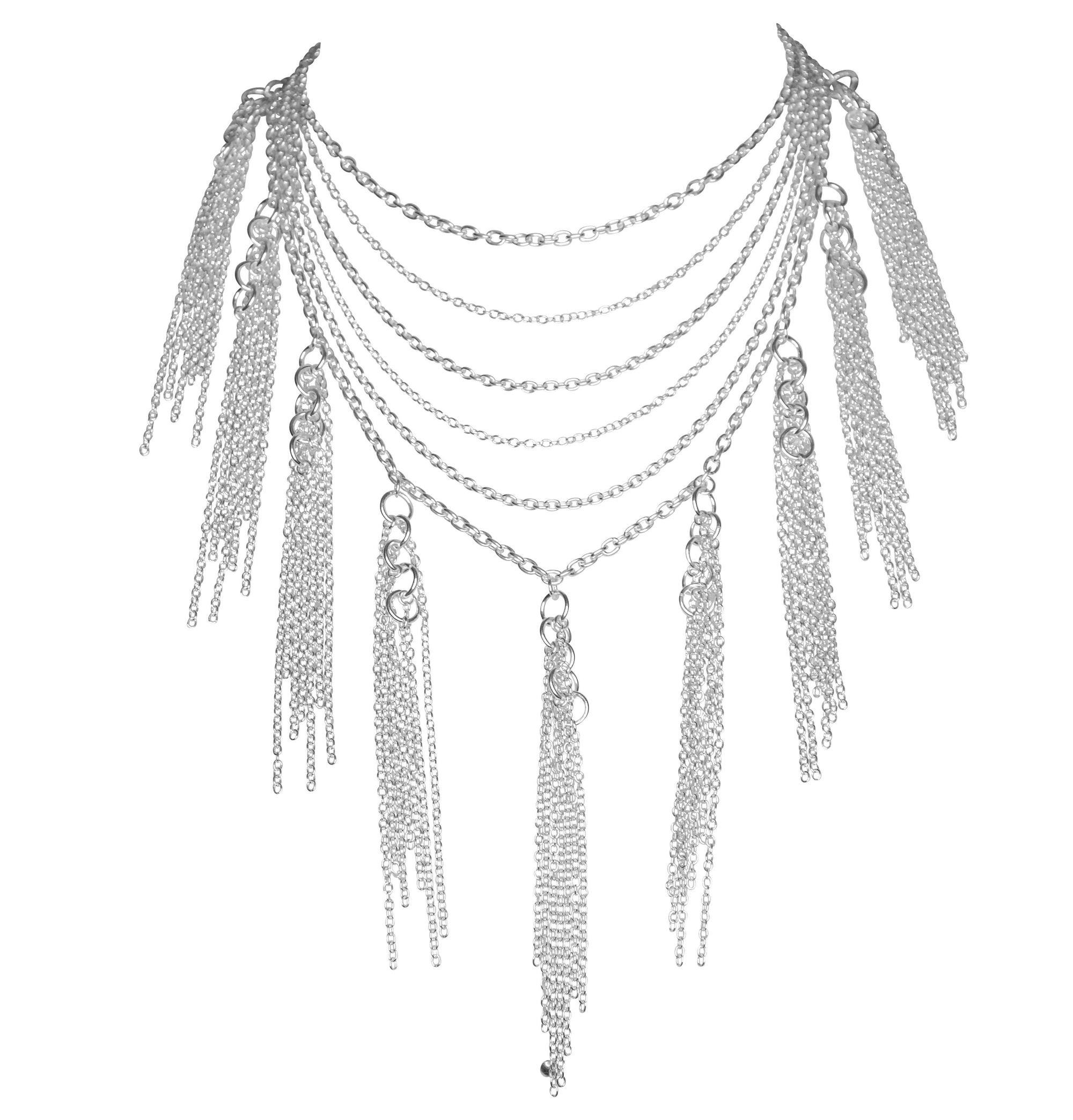 Sterling Tassel Necklace - Lalita - Evellier