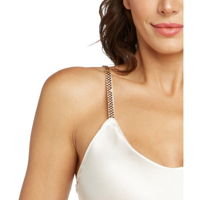 MADISON SLIP DRESS (PEARL/GOLD SWAROVSKI STRAPS) - Avery Rose Lingerie - Evellier