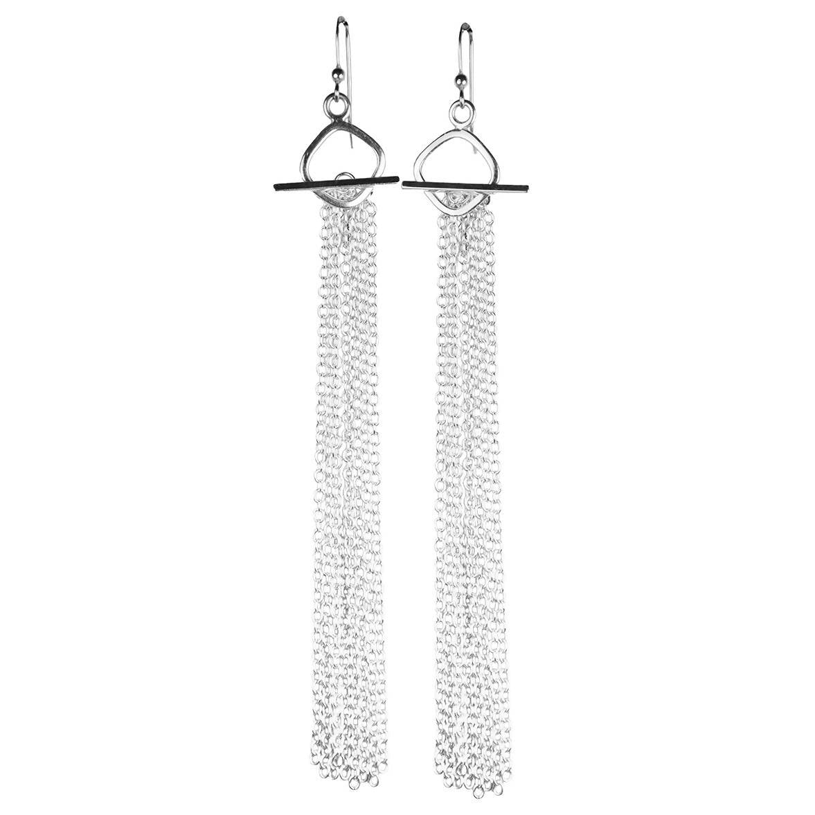 Sterling Tassel Earrings - Lalita - Evellier
