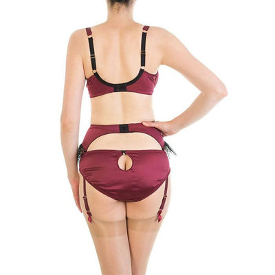 Eleanor Damson Garter Belt - Harlow & Fox - Evellier
