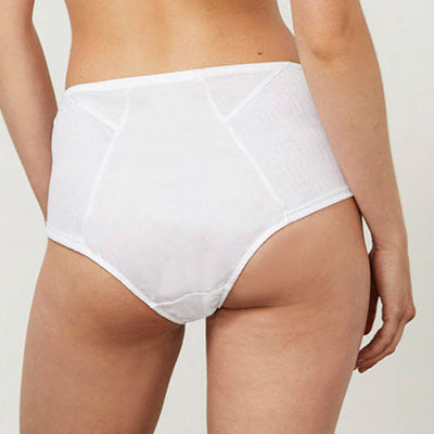 Angled High Waist Brief White - Rossell London - Evellier