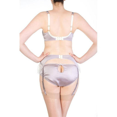 Eleanor Lilac Garter Belt - Harlow & Fox - Evellier