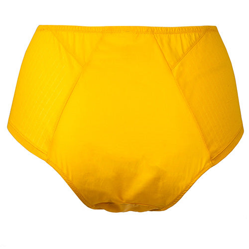 Angled High Waist Brief Yellow - Rossell London - Evellier