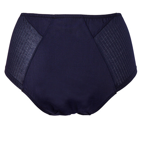 Angled High Waist Brief Navy - Rossell London - Evellier