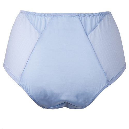 Angled High Waist Brief Blue - Rossell London - Evellier
