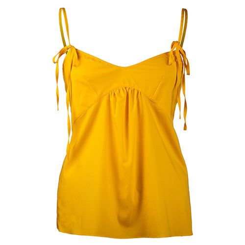 Front Tie Camisole Yellow - Rossell London - Evellier