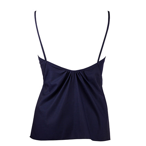 Front Tie Camisole Navy - Rossell London - Evellier
