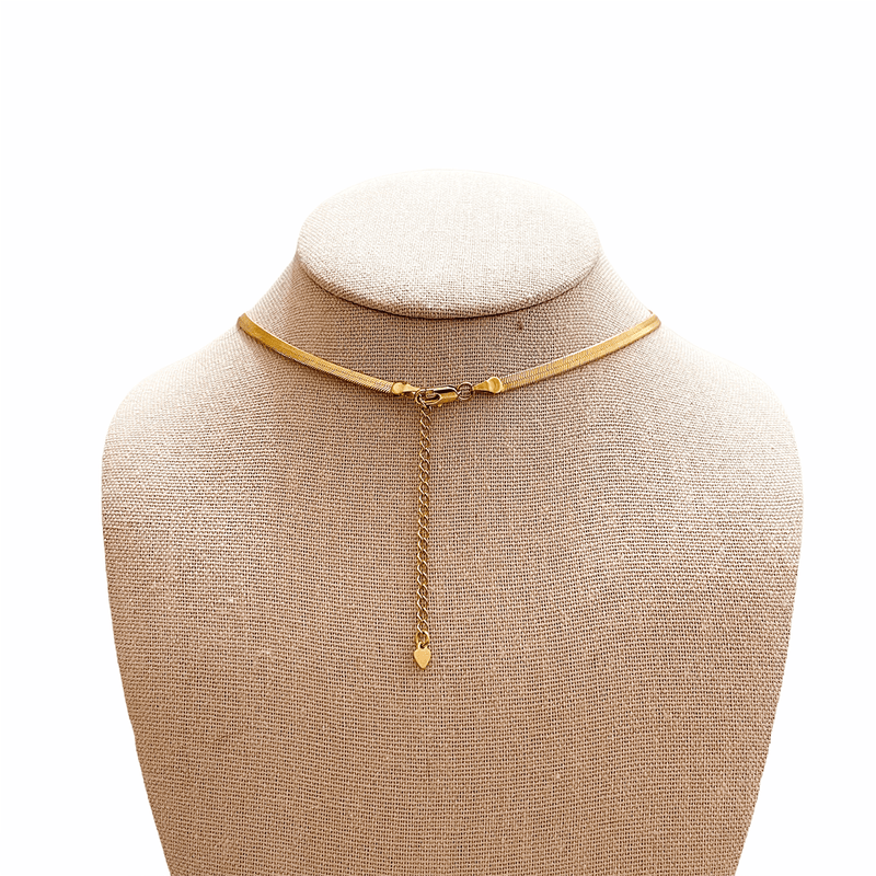 lobster clasp for gold herringbone necklace