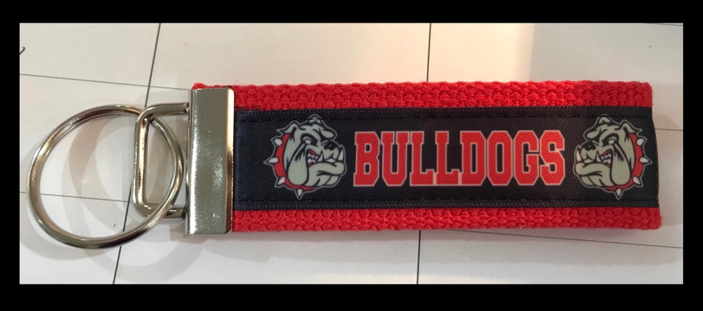 Bulldog Printed Web Key Fob