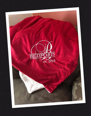 Micro Fleece/Sherpa Bedford Throw