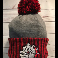Bulldog Custom Pom Pom ColorBlock Beanie