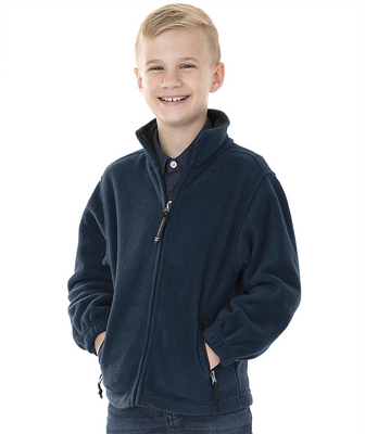 Navy - Youth Voyager Fleece Jacket