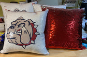 Bulldog Sequin Pillow