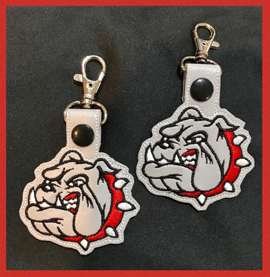 Bulldog Vinyl Key Chain