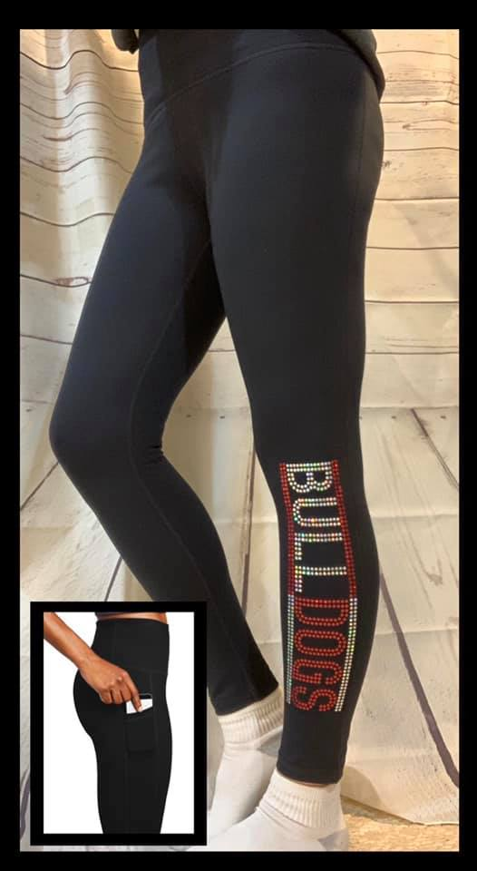 Sport-Tek BULLDOG Spangle Leggings