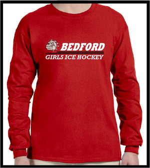 BHS Girls Ice Hockey LS DryBlend Tee