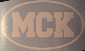 MCK Vinyl Window Decal 7x4