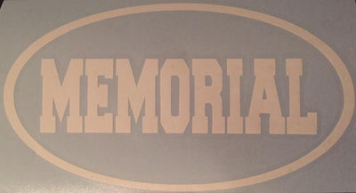 Memorial Vinyl Window Decal 7x4