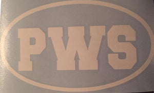 PWS Vinyl Window Decal 7x4