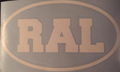 RAL Vinyl Window Decal 7x4