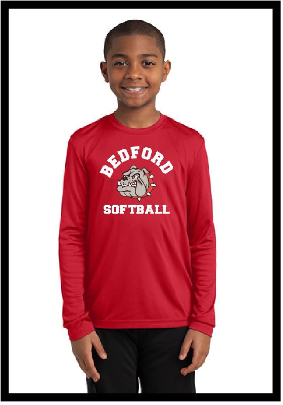 Bulldog Softball Long Sleeve Peformance Tee