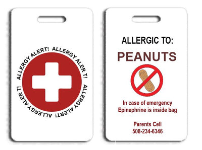 Allergy Alert Bag Tag