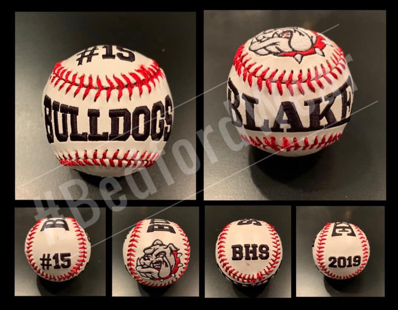 Embroidered Baseballs and Softballs