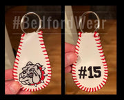 Custom Embroidered Sofball/Baseball Key Chains