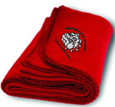 BHS Girls Ice Hockey Fleece Stadium Blanket