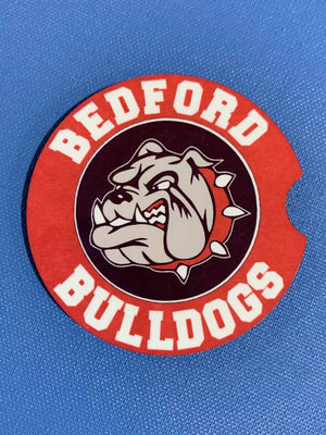 Bulldog Hardboard Car Coaster