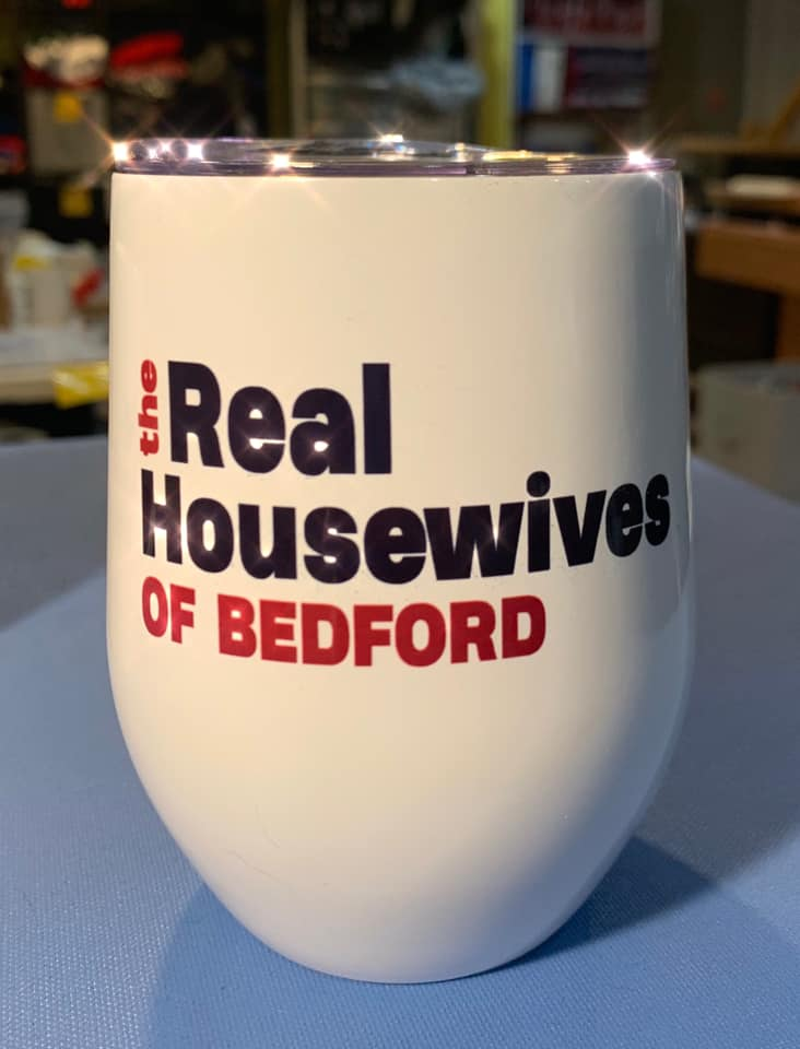 The Real Housewives of Bedford Wine Tumbler