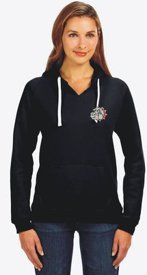 Bulldog Embroidered Brushed Pullover