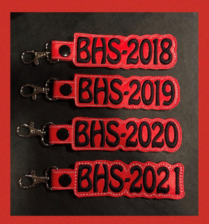 Graduation Year Vinyl Key Chain