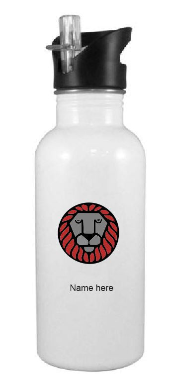Lurgio Custom Printed Water Bottle with Straw
