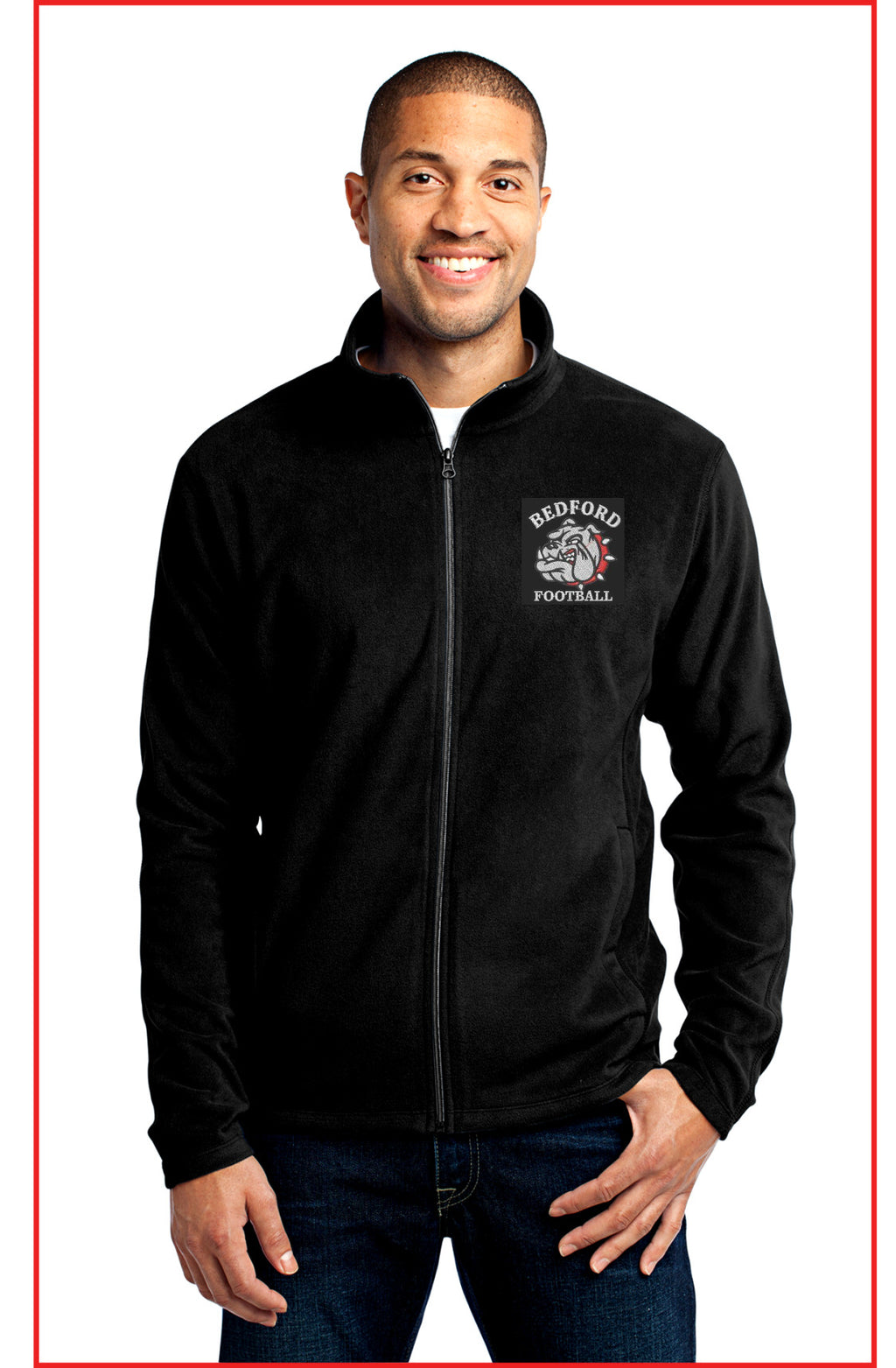 Men's Bedford Football Full Zip Microfleece