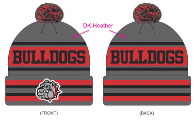 Custom Knit Bulldog Pom Pom
