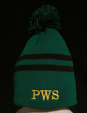 PWS Custom Embroidered Pom Pom Beanie