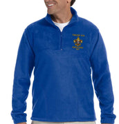 1/4 Zip Troop 414 Embroidered Fleece Jacket