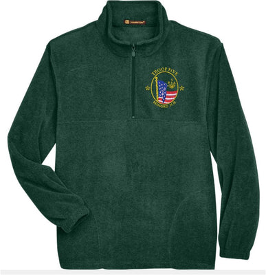 Troop 5 Embroidered 1/4 Zip Fleece Jacket