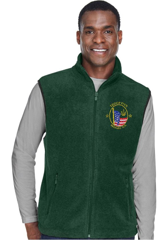 Troop 5 Embroidered Fleece Vest