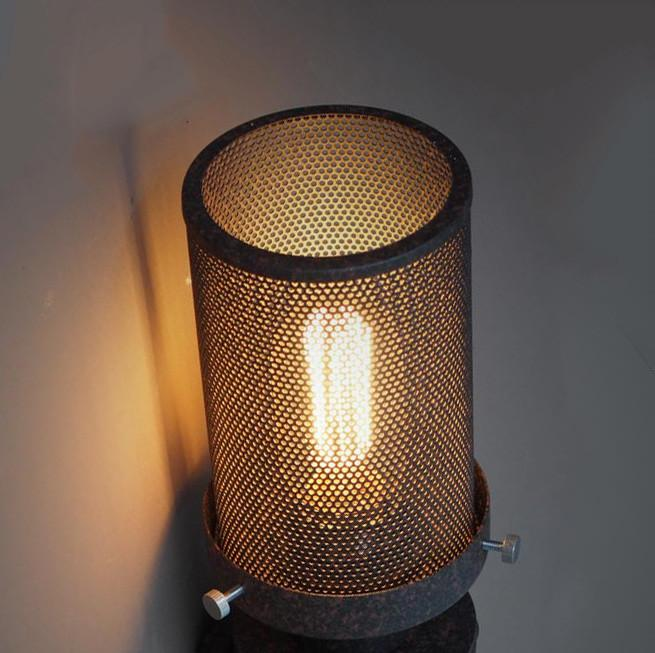Mesh Iron Pipe Wall Light / Bedside Light
