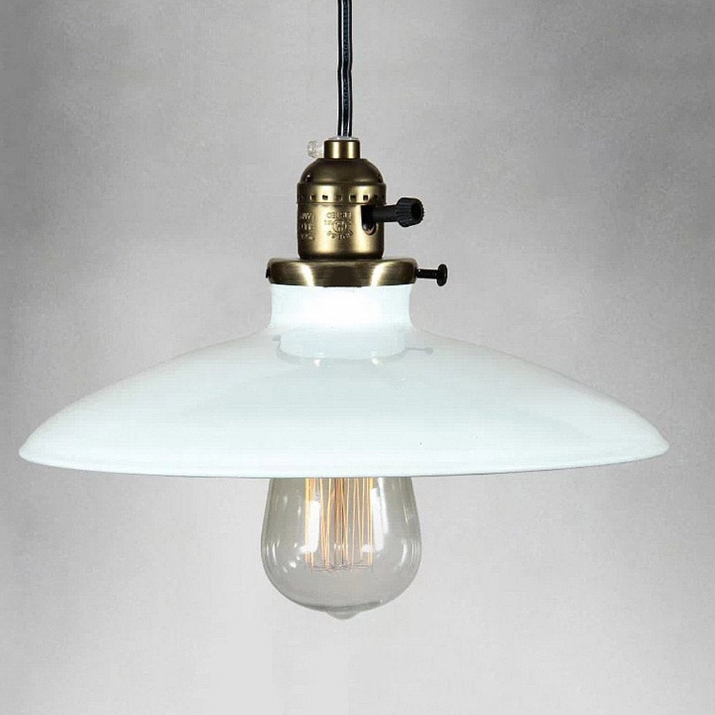 Shallow Plate Industrial Vintage Pendant Light